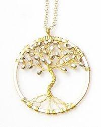 Nakamol - Metallic Tree Of Life Pendant(small) -gold/silver - Lyst