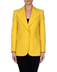 Chloé - Yellow Cotton Blazer - Lyst