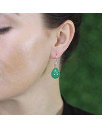 Sylva & Cie | Green Agate Drop Earrings | Lyst