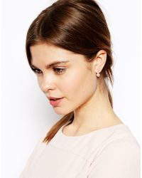 ASOS | Pink Faux Pearl Swing Earrings | Lyst