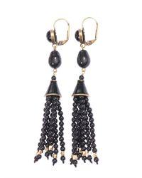 Isabel Marant - Black Paris Lovers Bead Tassel Earrings - Lyst