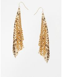 ASOS - Metallic Chainmail Earrings - Lyst