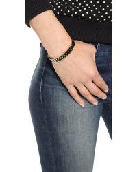 kate spade new york | Metallic On The Dot Hinged Idiom Bangle Bracelet - Black/Gold | Lyst