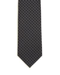Gucci   Black Interlocking G Striped Tie for Men   Lyst