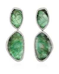 Monica Vinader | Green Gala Cocktail Earrings | Lyst