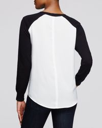 Aqua | White Knit Pullover | Lyst