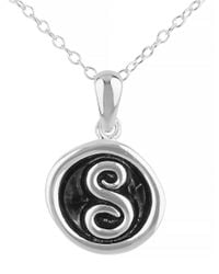 Lord & Taylor | Black Oxidized S Pendant Necklace | Lyst
