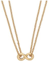 kate spade new york - Metallic New York Gold-tone Mini Infinity Pendant Necklace - Lyst