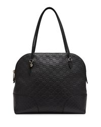 Gucci - Black Bree Ssima Leather Top Handle Bag - Lyst