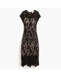 J.Crew | Black Collection Scalloped Lace Dress | Lyst