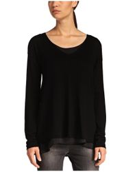 BOSS Orange - Black 2-in-1 Fabric-blend Sweater 'isottah' - Lyst