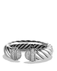 David Yurman   Metallic Waverly Bracelet With Diamonds   Lyst