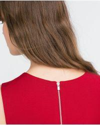 Zara | Red Short Dress | Lyst