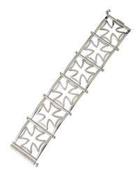 Elizabeth Showers - Metallic Maltese Silhouette Cuff Bracelet W/ Sapphires - Lyst