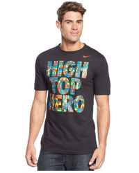 Nike | Black High Top Hero T-Shirt for Men | Lyst