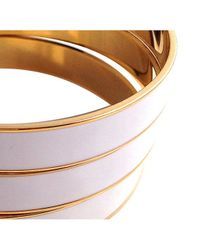 Tuleste - White Channel Bangles - Lyst