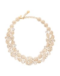 kate spade new york - Metallic Pick A Pearl Statement Necklace - Lyst