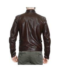 Matchless   Brown Down Jacket Jacket Osborne Motor Leather for Men   Lyst