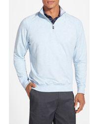 Fairway & Greene - Blue 'old School' Stretch Raglan Quarter Zip Pullover for Men - Lyst
