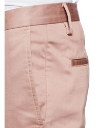 Acne Studios - Pink Max Satin Stretch Slim-leg Chinos for Men - Lyst