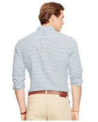 Polo Ralph Lauren | Green Checked Oxford Shirt for Men | Lyst