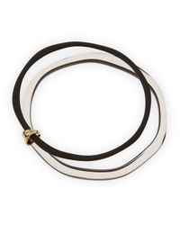 Alexis Bittar - Black Lucite Liquid Paired Bangle - Lyst