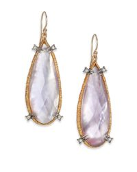 Alexis Bittar | Purple Elements Moonlight Mother-Of-Pearl & Crystal Doublet Teardrop Earrings | Lyst
