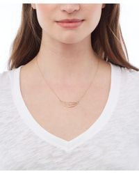 Melissa Joy Manning - Metallic Gold Half Circle Pendant And Diamond Necklace - Lyst