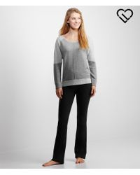 Live Love Dream | Gray Lld Long Sleeve Terry Cold-shoulder Top | Lyst