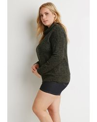 Forever 21 - Green Plus Size Drop-sleeved Turtleneck Sweater - Lyst