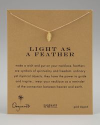 Dogeared - Metallic Light As A Feather Necklace - Lyst