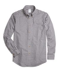 Brooks Brothers | White Milano Fit Flannel Gingham Sport Shirt for Men | Lyst