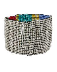Kenneth Cole - Blue Beaded Cuff Bracelet - Lyst