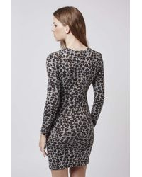 TOPSHOP - Multicolor Animal Print Dress - Lyst