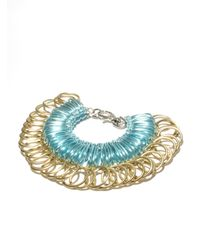 Kirsty Ward | Blue Alu Loops & Brass Rings Bracelet | Lyst