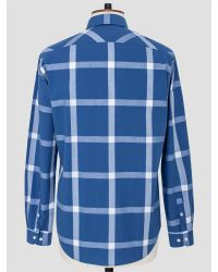 Thomas Pink - Blue Ryland Check Shirt for Men - Lyst