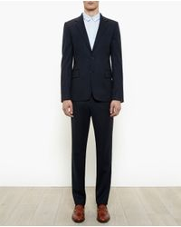 Ann Demeulemeester Grise - Blue Tailored Wool Suit for Men - Lyst