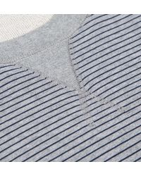 Sunspel - Gray Men's Loopback Cotton Sweatshirt With Printed Stripe for Men - Lyst