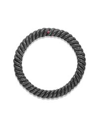 David Yurman | Black Hampton Cable Necklace With Diamonds | Lyst