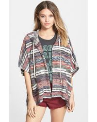 Billabong - Multicolor 'shadow Views' Open Front Hoodie - Lyst