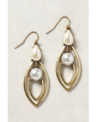 Anthropologie - Metallic South Sea Earrings - Lyst
