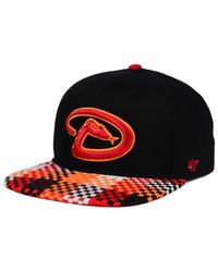 47 Brand - Black Arizona Diamondbacks Ruffian Snapback Cap for Men - Lyst