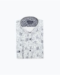 Zara | White Floral Printed Shirt for Men | Lyst