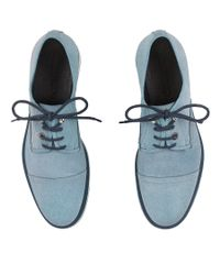 Jimmy Choo - Stewart Avion Blue Waxed Soft Leather Lace Up Shoes for Men - Lyst