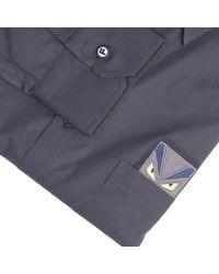 Fendi - Blue Shirt for Men - Lyst