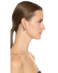 Vita Fede - Metallic Double Titan Earrings - Silver/clear - Lyst