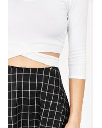 Truly Madly Deeply   White Criss-cross Top   Lyst