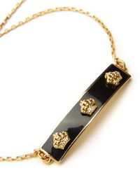 Juicy Couture | Metallic Enamel Crown Slider Bracelet | Lyst