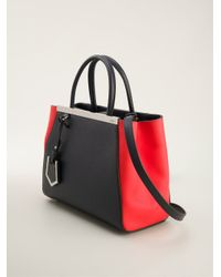 Fendi - Blue Colour Block Tote - Lyst