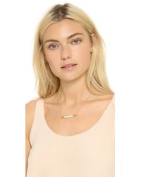 Vita Fede | Metallic Turnable Crystal Pave Neckalce - Gold/Clear | Lyst